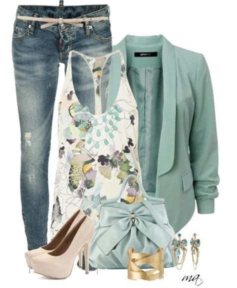 Fresh Mint Casual Spring Outfits - Be Modish