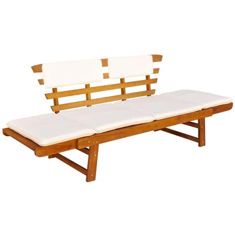 canapé hauteur assise 60 vidaxl outdoor sun bed garden bench acacia wood vidaxl com