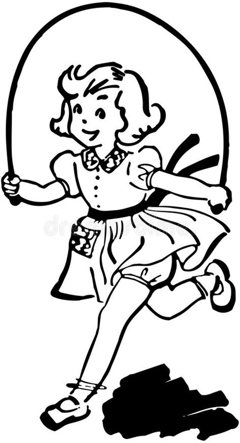 jump rope clipart black and white with skipping rope stock vector illustration of