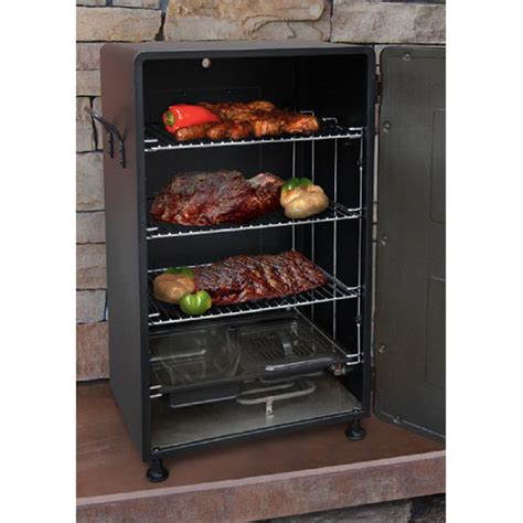 electric smokers shop landmann usa smoky mountain 26 7 in 1500 watt electric vertical smoker at lowes com