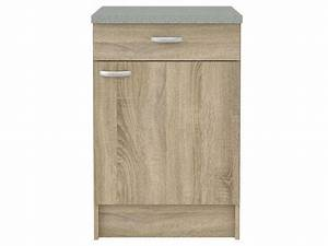Meuble Bas Porte : meuble bas cuisine 1 porte 1 tiroir casa coloris ch ne ~ Edinachiropracticcenter.com Idées de Décoration