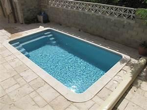 Piscine Enterrée Coque : piscine coque polyester mod le bahamas grise avec escalier ~ Melissatoandfro.com Idées de Décoration