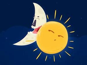 Moon And Sun By Sinan  U00d6zk U00f6k On Dribbble