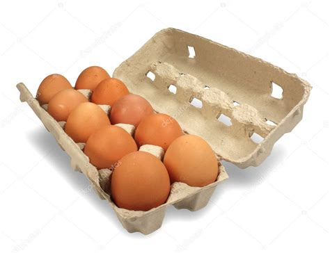 ten eggs box  stock photo  thebackground