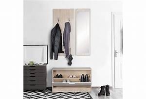Garderobe Mit Spiegel : wohnling wand garderobe jana mit spiegel schuhschrank spanplatte sonoma moderne flur ~ Eleganceandgraceweddings.com Haus und Dekorationen