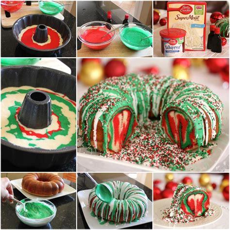 diy treat ideas diy rainbow tie dye christmas wreath bundt cake