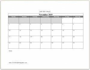 Monthly Calendar Template Microsoft Word Word Calendar 2019