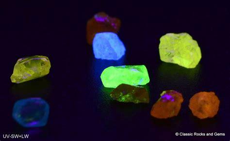 natural 9 fluorescent rough crystals kimberley