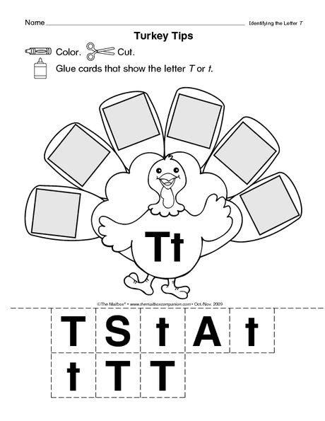 letter t turkey language arts thanksgiving preschool 133 | 89d4432f00ea8f99faf0c6295d801a46