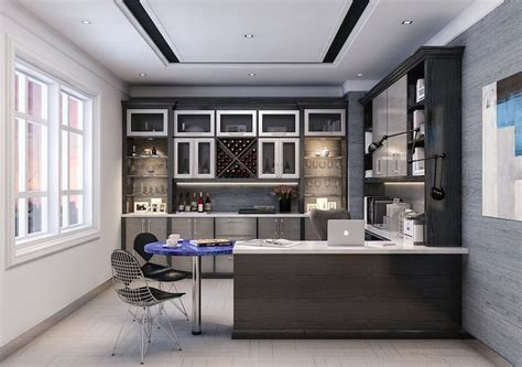 Curio Cabinets For Contemporary Home Office With Office