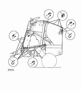 456 - Baler  Round L H  Wiring Harness Clamps