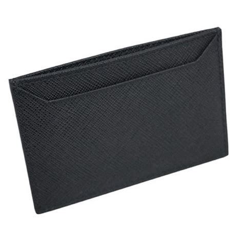 Shop the prada card holders range from our bags department for a wide range of prada card holders   available to buy online from selfridges.com. ACCESSORIES :: WALLETS :: Prada Nero Black Saffiano Men's Leather Wallet Credit Card Holder Case ...