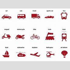 Street Vehicles And Transportation Vocabulary In English