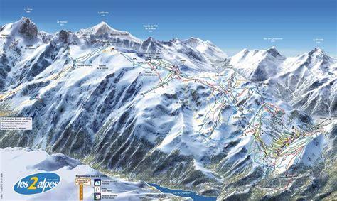 chalet mounier les 2 alpes les 2 alpes plan des pistes de ski les 2 alpes