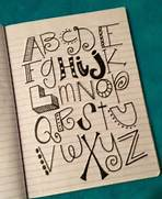 How To Write Cool Letters On Paper Letters Letter Designs And Alphabet On Pinterest
