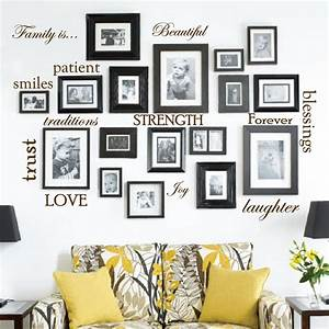 Set of 12 Family Quote Words Vinyl Wall Sticker Picture