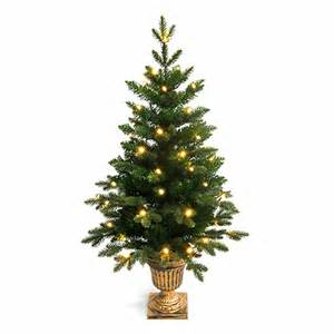 4ft potted pre lit pe artificial tree 4ft tree