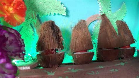 gharguti ganpati decoration ashtavinayaka coconut