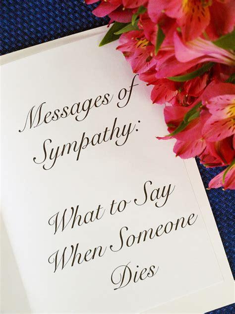 messages  sympathy      dies