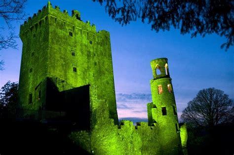 castle  ireland turned green  st patricks day