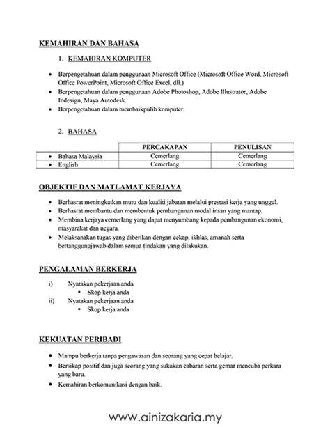 Contoh Surat Resume by Contoh Surat Berhenti Kerja Mudah Contoh Resume Motorcycle Review And Galleries