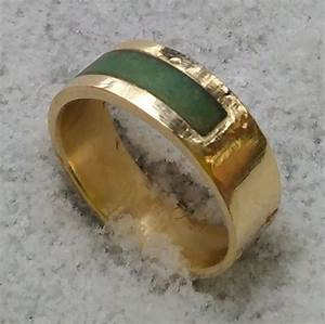 Custom gold jade wedding band by cicmil crowns for Jade wedding ring