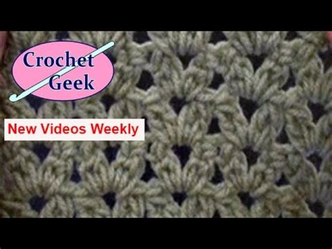 crochet  lace blanket cluster stitch youtube