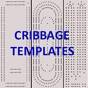 classic cribbage board templates     print