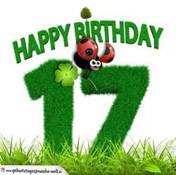 sprüche zum 17 geburtstag 17 geburtstag als graszahl happy birthday geburtstagssprüche welt