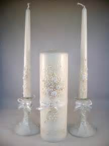 candles wedding gorgeous wedding unity candle set in pearl ivory and white