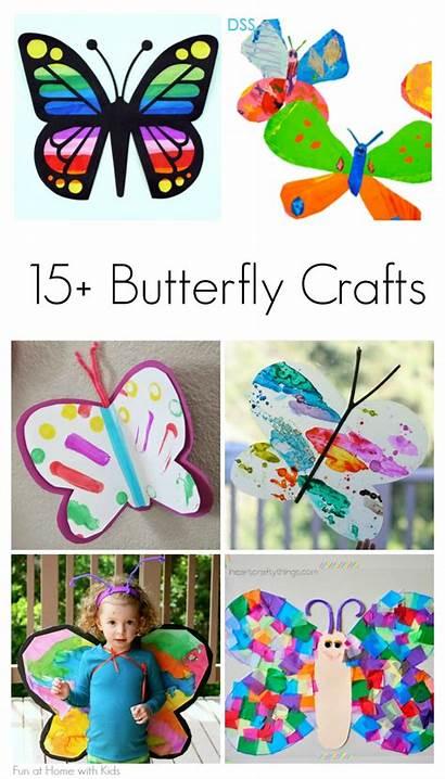 Butterfly Crafts Craft Spring Butterflies Toddlers Children