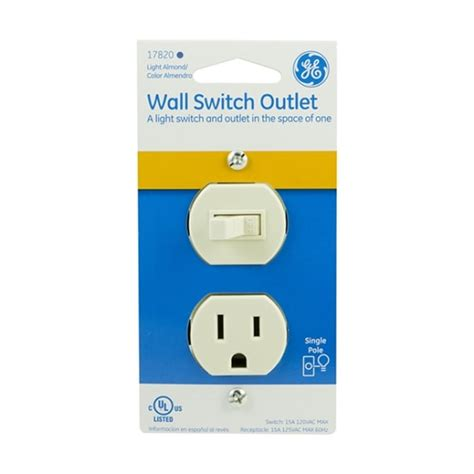 ge wall switch outlet light almond jasco