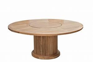 Tisch 8 Personen : plo gartentisch rund 160 cm f r 7 8 personen teakholztisch mit drehteller 90 cm rund ~ Markanthonyermac.com Haus und Dekorationen