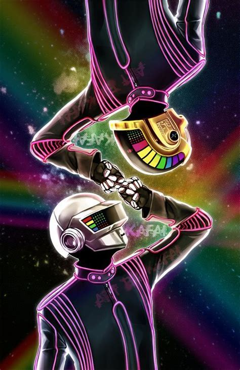 Daft Punk Illustration, could inspire an awesome glow in ...