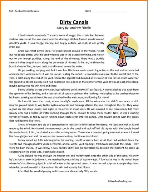 ela reading comprehension grade 5 worksheets 5 6th grade ela worksheets western psa