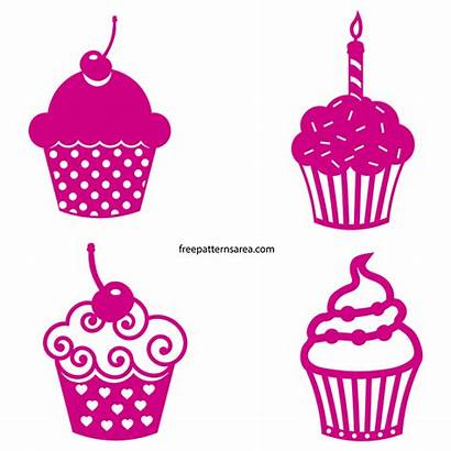 Silhouette Vector Cupcake Svg Cupcakes Clipart Cut
