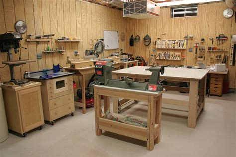 nice  organized workshop small woodworking shop
