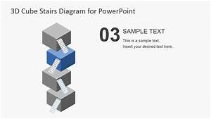Flat 3d Cube Stairs Diagram For Powerpoint