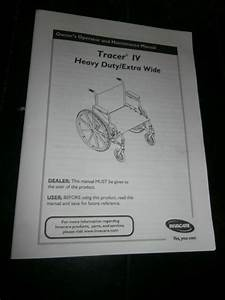 Owners Manual For Tracer Iv Heavy Duty Extra Wide