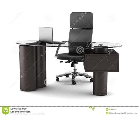 bureau de travail blanc lieu de travail moderne de bureau d 39 isolement sur le blanc
