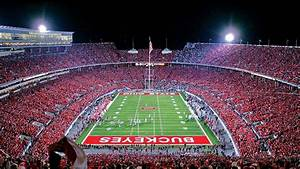 buckeyes, ohio, state, stadium, with, players, and, audience, hd