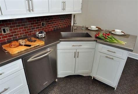 corner kitchen sink    solving  dilemma