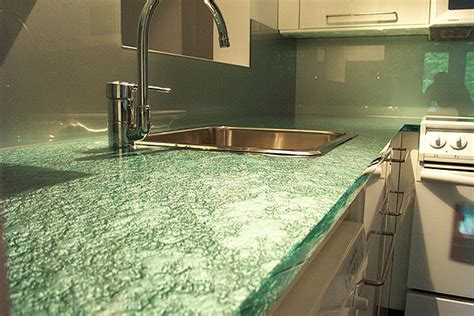 a few benefits of using recycled glass for countertops kbr