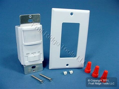cooper white occupancy motion sensor wall light switch