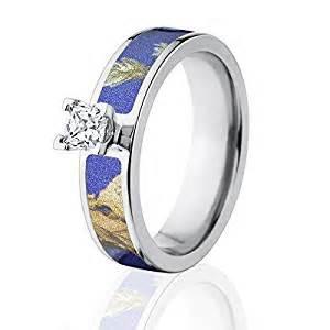 realtree camo wedding rings camo wedding rings realtree ap purple camo rings with 1 2 ctw 14k setting the