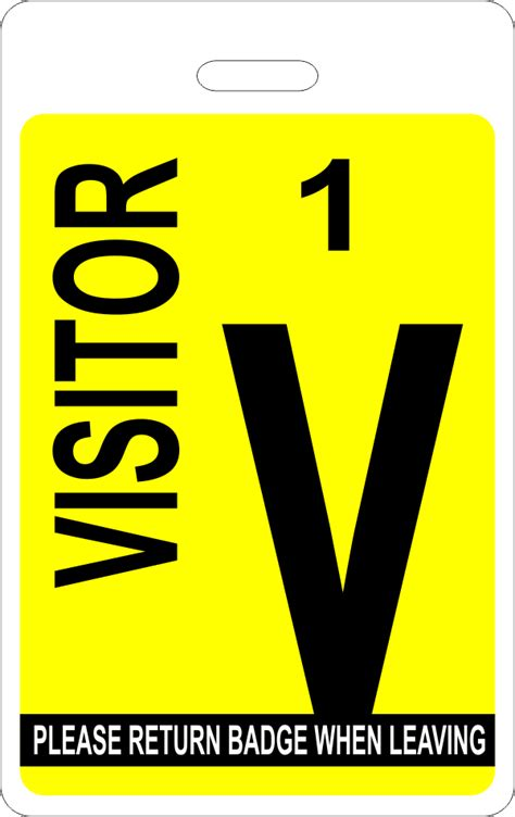 numbered visitor badge  tag wizard