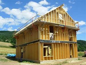 construire une ossature en bois construction ossature With construire sa maison soi meme en bois