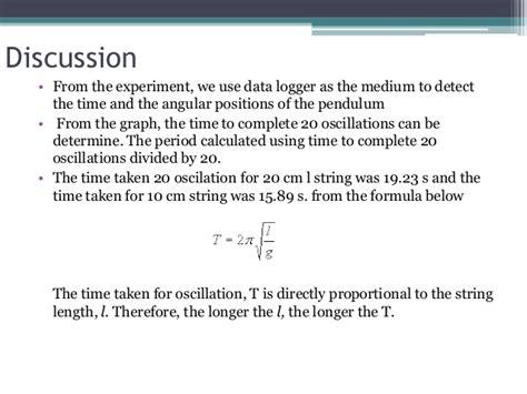Pendulum Lab Report by Physics Pendulum Lab Report Lab 1 The Pendulum La