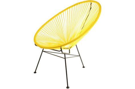 chaise acapulco pas cher fauteuil la chaise longue jaune acapulco fauteuil design