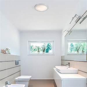 Ampoule Salle De Bain : plafonnier logos 1 aluminium bross e27 20w salle de ~ Melissatoandfro.com Idées de Décoration